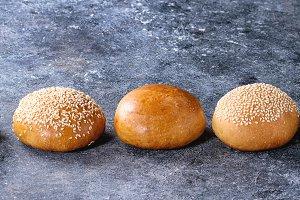 Set of burger buns