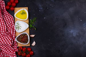 Food background with spices