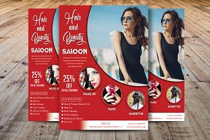 Hair and Beauty Salon Flyer Template