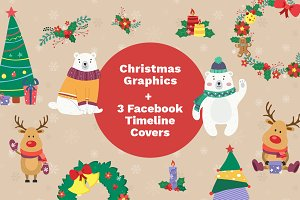 Christmas Bundle: Graphics, Facebook