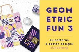 Geometric Fun 3 ~ 24 patterns
