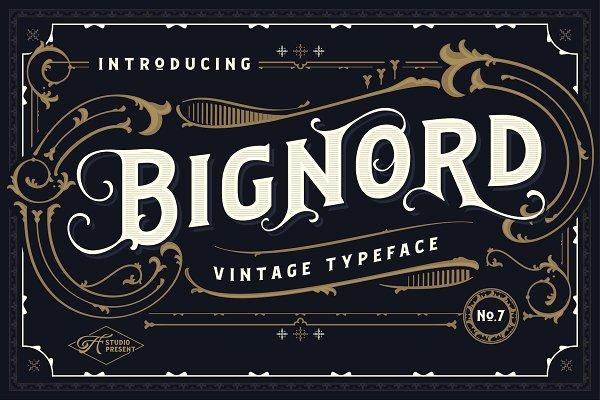 Bignord - Vintage Typeface