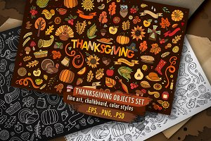 Thanksgiving Objects & Elements Set