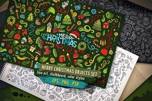 ❄ Christmas Objects & Elements Set