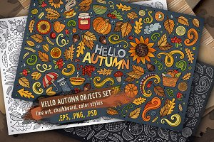 Autumn Objects & Symbols Set