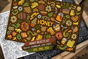 Honey Objects & Symbols Set