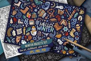 Winter Objects & Elements Set