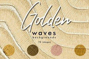 Golden waves backgrounds