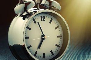 Alarm clock in morning light