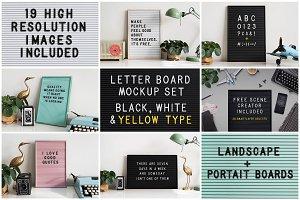 Letter board mockup set