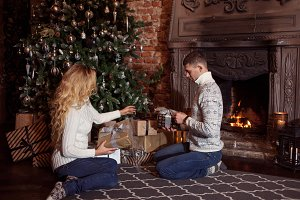 Merry Christmas. Young couple