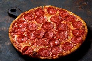 Freshly Baked Pepperoni Pizza