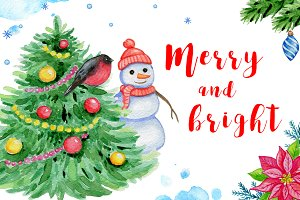 Merry and bright design kit
