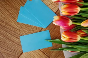 Turquoise business card for florist