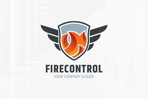 Fire Control Logo Template
