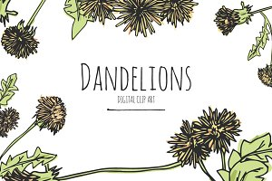 Dandelions - Digital Clip Art