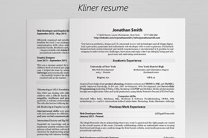Kliner • Simple professional resume