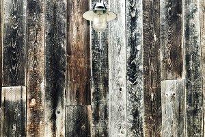 Vintage looking wooden wall