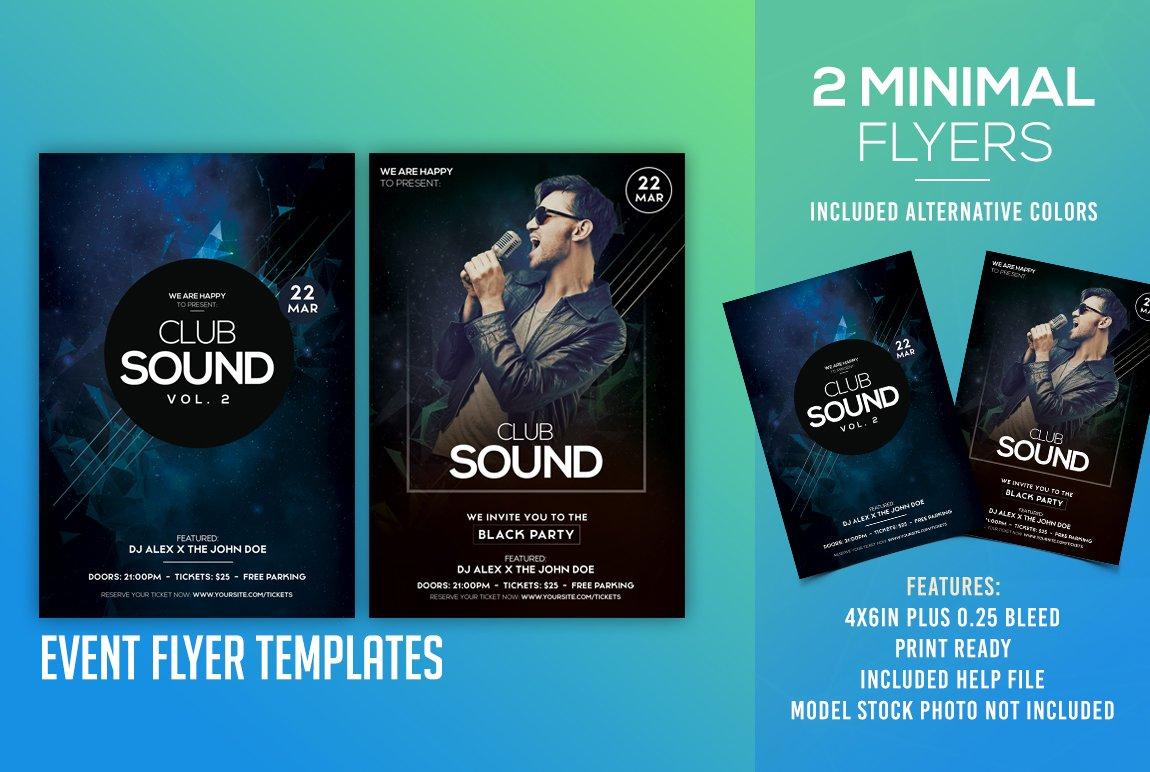 Club Sound 2 Psd Flyer Templates Flyer Templates Creative Market