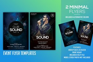 Club Sound - 2 PSD Flyer Templates