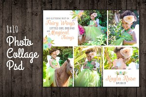 Photo Collage Template PSD 8x10