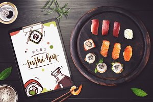 Sushi Bar Menu Mock-up #4