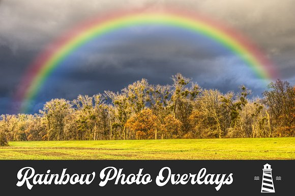 Rainbow Photo Overlays