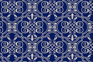 5 ornamental seamless patterns