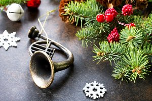 Christmas composition.