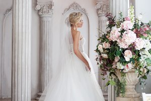 Charming young bride