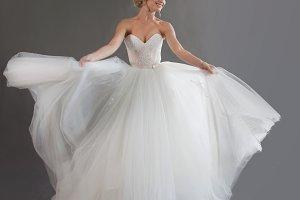 Dancing young bride