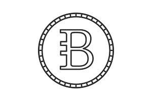 Bytecoin linear icon