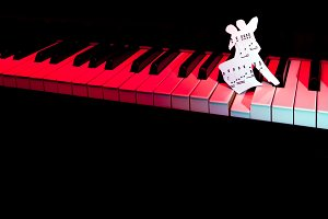 Piano and score