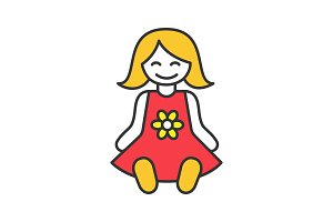 Baby doll color icon