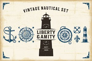 Vintage Nautical Set