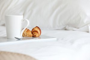 breakfast on a bed