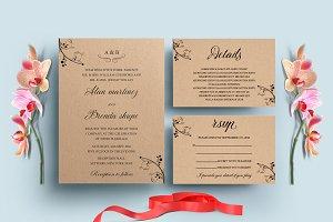 Kraft Wedding Invitation Set