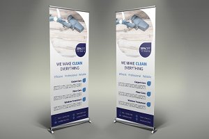 Cleaning Services Roll Up Banner