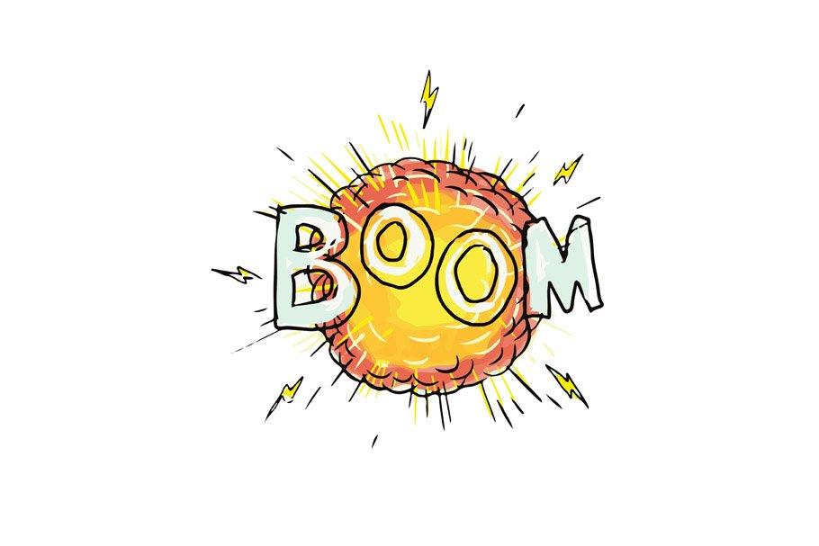 Cartoon Explosion Boom ~ Illustrations ~ Creative Market