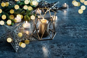 Christmas decoration candles lights