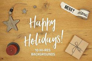Happy Holidays - 10 backgrounds
