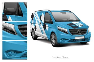 European Light Commercial Van Mockup