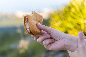 Steaks sandwich.