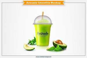 Avocado Smoothie Mockup