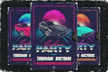 80s NewRetroWave flyers