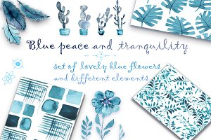 Blue peace and tranquility