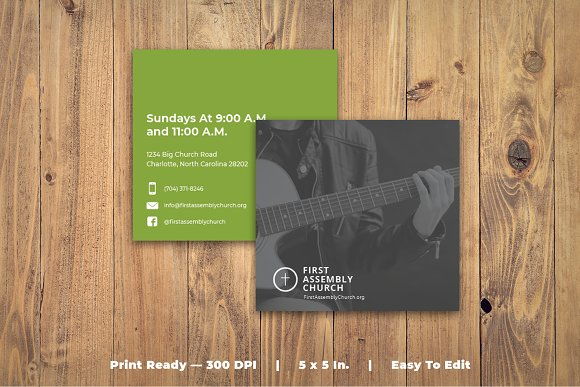 Church Bulletin TriFold Brochure Templates Creative Market - Church brochure templates