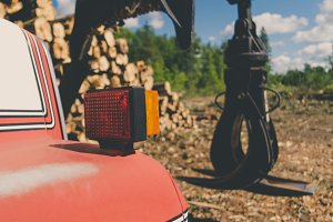 Log Truck and Loading Grapple