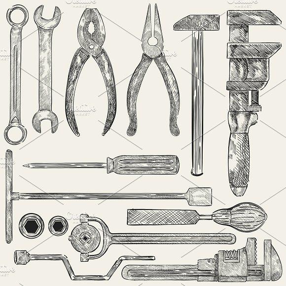 Illustration of mechanic tools