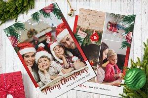 Christmas Postcard Template 5x7 V8
